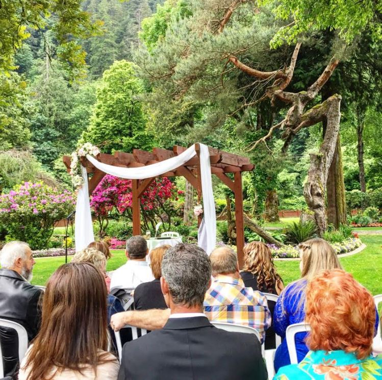 Harrison Hot Springs Garden Wedding